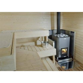 Accessories for wood-fired sauna heater Narvi Radiant sheath for sauna oven, Stainless. Height 1230 mm