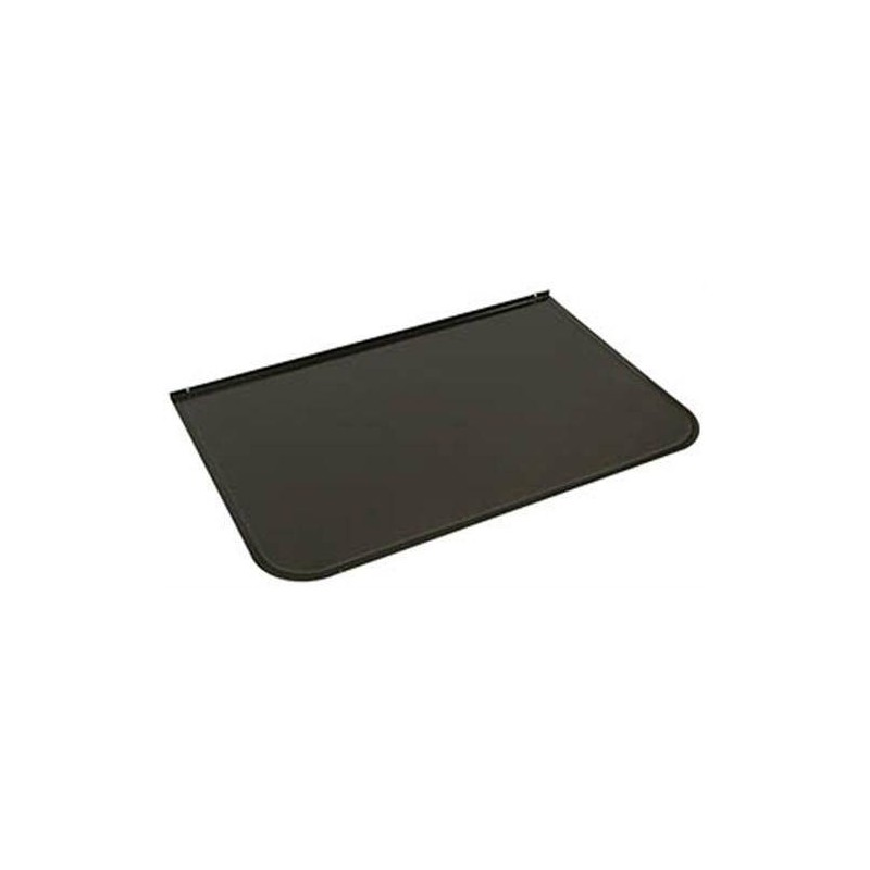 Accessories for a heated sauna heater Front plate / spark protection Gray black 700x400 mm