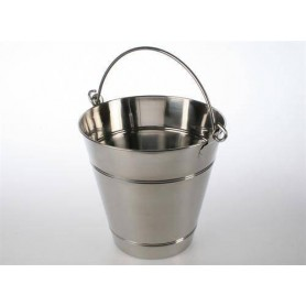 Accessories for a heated sauna heater Wood / Sauna bucket 12 Liter, Stainless