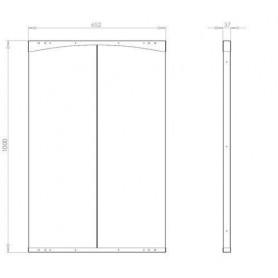Accessories for a heated sauna heater Narvi Radiant sheath DEL 2, 652 x 1230 mm