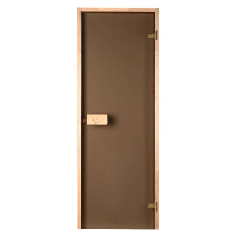 Sauna doors size 6x18 Sauna door 6x18 Classic with bronze glass and pine frame