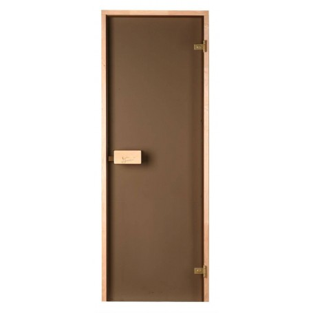 Sauna doors size 6x19 Sauna door 6x19 Classic with bronze glass and pine frame