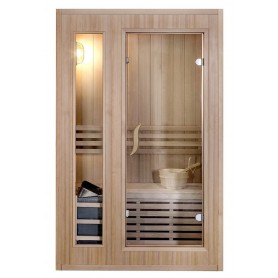 Sauna Traditional Classic for 2 people Traditional sauna for 2 people.Size: 1200 x 1100 x 1900 mmWood: Hemlock