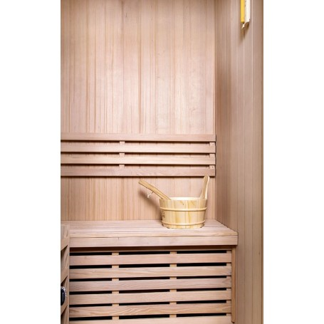 Sauna Traditional Classic for 2 people Traditional sauna for 2 people.Size: 1200 x 1100 x 1900 mmWood: Hemlock
