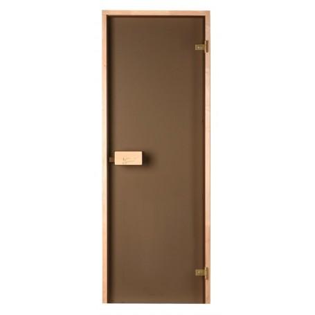 Sauna doors size 8x19 Sauna doors 8x19 Classic with bronze glass and pine frame