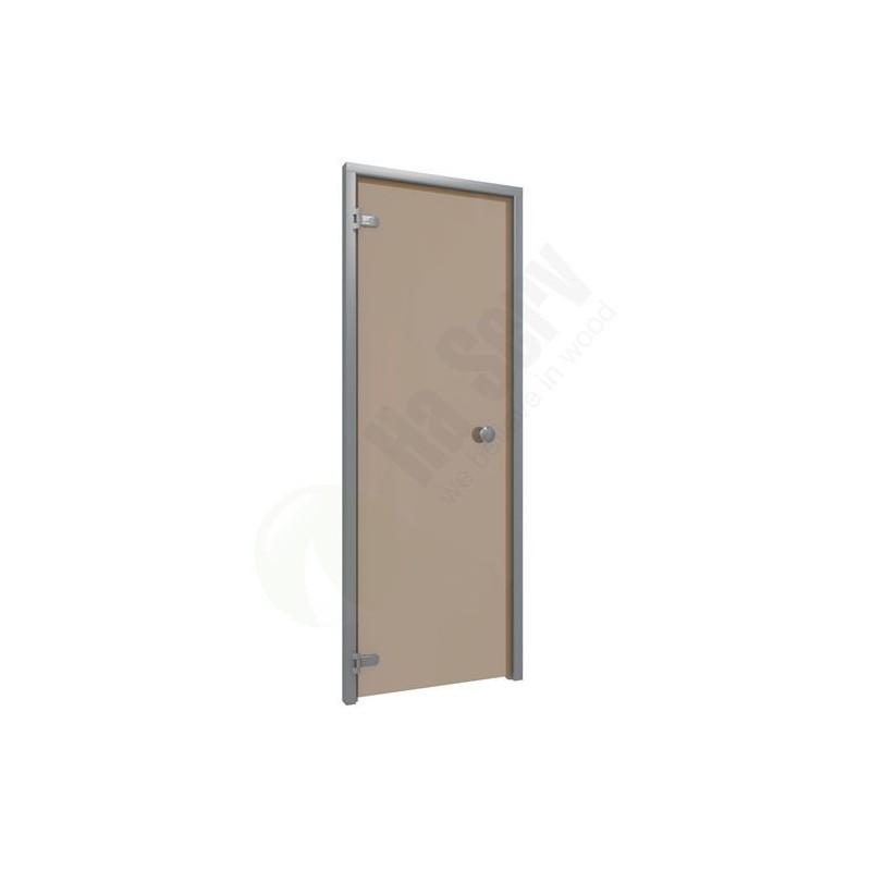 Sauna doors size 7x20 Sauna door 7x20 aluminum frame with bronze glass. Bronze-colored Glass Frame in Aluminum