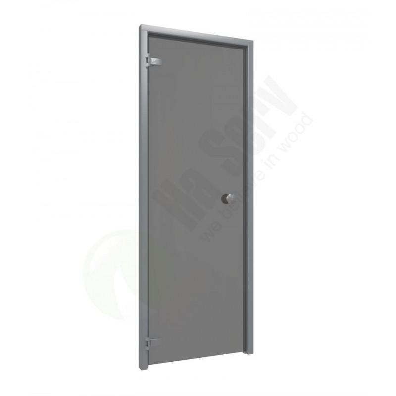 Sauna doors size 7x20 Sauna door 7x20 aluminum frame with gray glass Smoke gray glass Frame in Aluminum