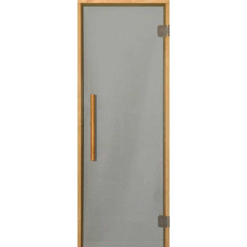 Sauna doors size 7x20 Sauna door 7x20 Premium, with gray glass and alcarm Smoke gray glassKarm in al