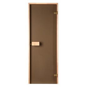Sauna doors size 8x21 Sauna door 8x21 Classic with bronze glass and pine frame
