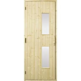 Wooden sauna doors Sauna door 7x20 wood, clear glass Gran Clear glass