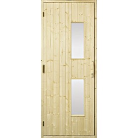 Wooden sauna doors Sauna door 8x20 wood, clear glass Gran Clear glass