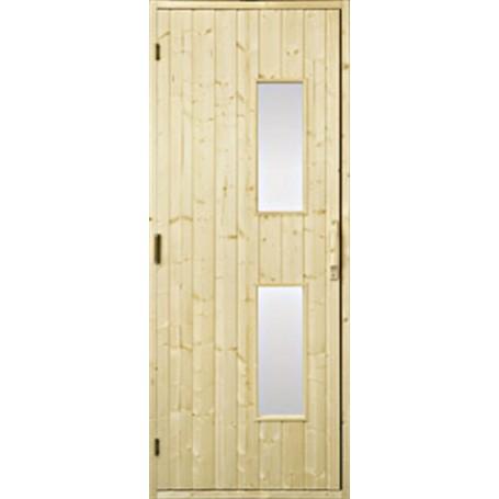 Wooden sauna doors Sauna door 9x21 wood, clear glass Gran Clear glass