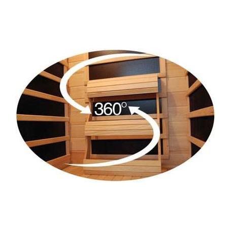 Delfi infrared sauna with Carbon wave