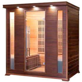 Sauna Infrared for 3-4 persons Apollon Tourmaline 4 persons Infra-sauna for 4 personsSize: 1750 x 1200 x 1900 mmWood: Ce