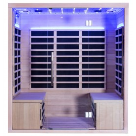 Sauna Infrared for 3-4 pers Glossy for 4 persons Infra-sauna for 4 personsSize: 1750 x 1200 x 1900 mmWood: White laser