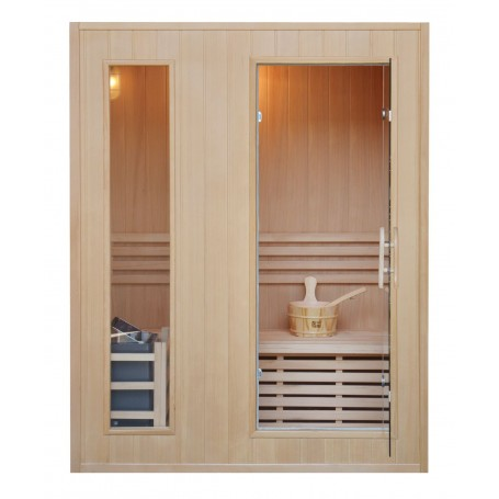 Sauna Traditional Classic for 3 people Traditional sauna for 3 people.Size: 1530 x 1100 x 1900 mmWood: Hemlock