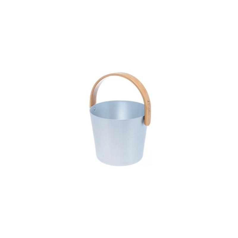 Rods and buckets Rento sauna bucket aluminum, Silver / light blue
