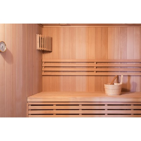 Sauna Traditional Vesta for 4 people Traditional sauna for 4 people.Size: 2000 x 1750 x 2000 mmWood: HemlockVä