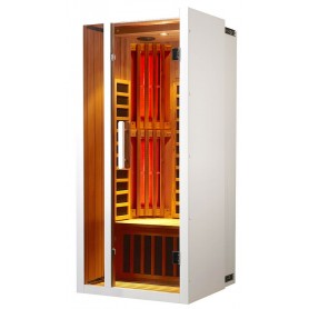 Harmonica an extendable infrared sauna for 1 person
