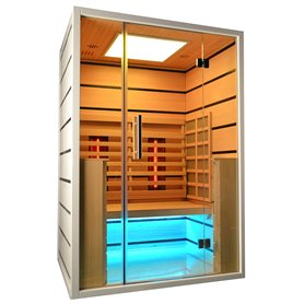 Sauna Infrared for 2 persons Select 2 persons Infrared Sauna for 2 personsSize: 1300 x 1050 x 1900 mmWood: White He