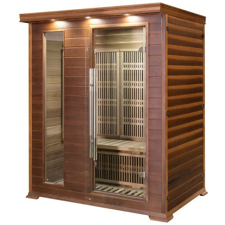 Sauna Infrared for 3-4 persons Apollon Tourmaline 3 persons Infra-sauna for 3 personsSize: 1530 x 1100 x 1900 mmWood: Ce