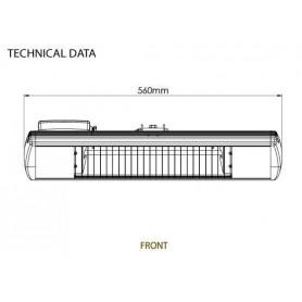 Infrared heater Tansun Bahama 1500W black