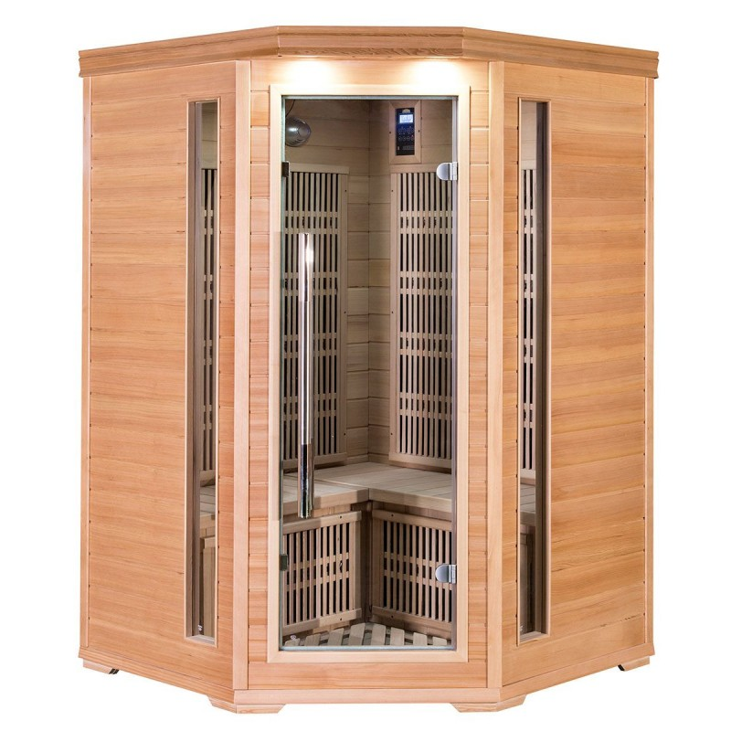 Corner Sauna Cornett Mini Hemlock Wood Type: Hemlock