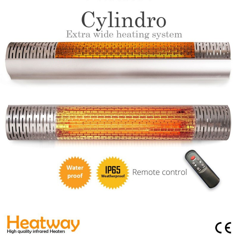 Patio heater HeatWay Cylindro 2000W Silver