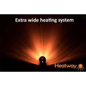 Patio heater HeatWay Cylindro 2000W Champagne