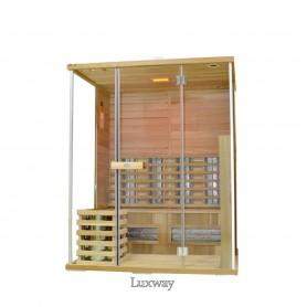 Multi-sauna Multi-sauna 3 persons Multi-sauna for 3 persons Size: 1600 x 1350 x 1980 mmWood: Cedar Heating system: IR-Vital