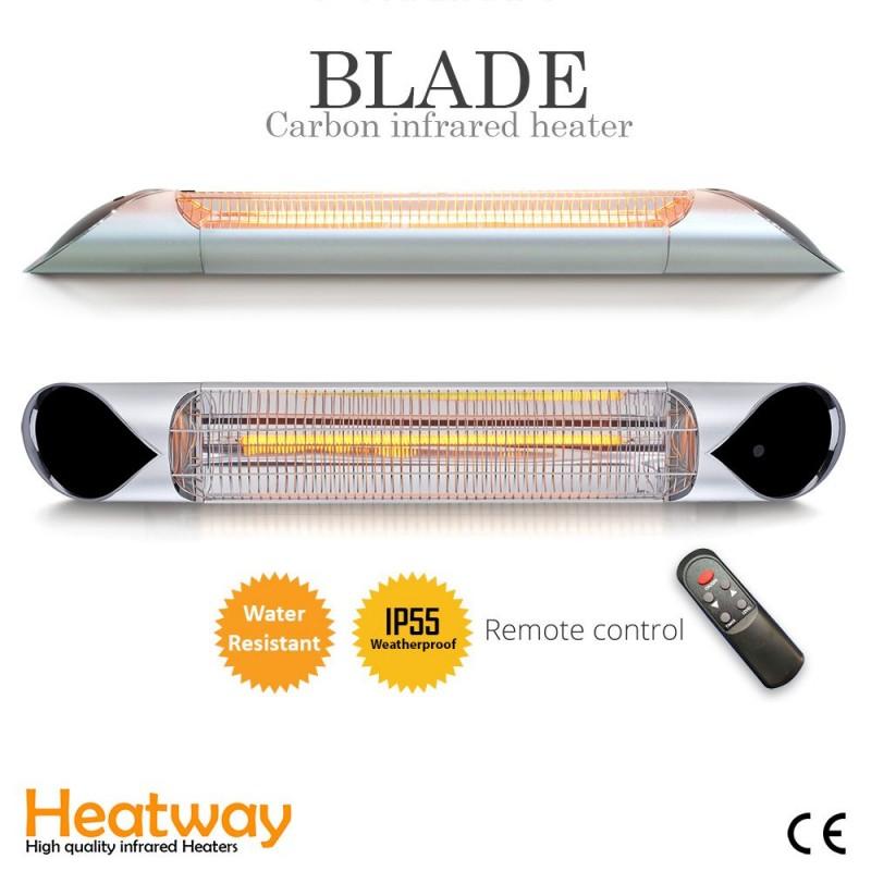 Terrace heater Blade Silver 2000W Infrared heater