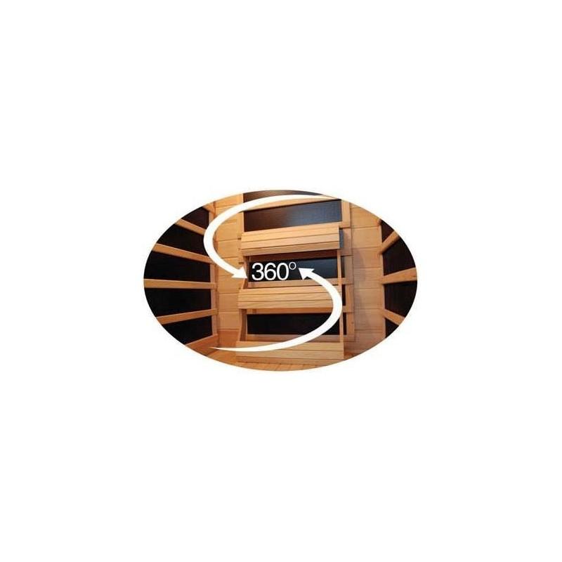 Outgoing Tourmaline IR Sauna | Hemlock