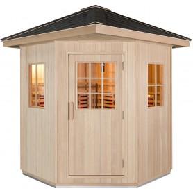 Large outdoor sauna of 1500x1500mm