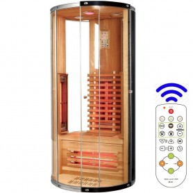 Jade single round infrared sauna for 1 person Size