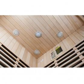 Corner Sauna Infrared Wellness Corner Hemlock Infra Sauna for 4 personsSize: 1550 x 1550 x 1980 mmWood: HemlockVärmesys