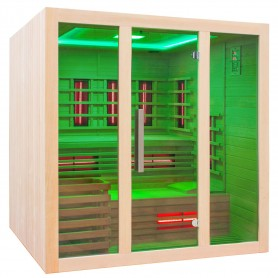 Combination sauna with cool ceiling lighting