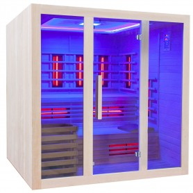 Sauna with infrared heating technology