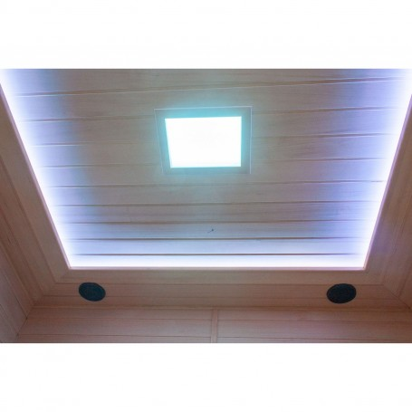 Ceiling color therapy with combination with hidden ceiling lighting