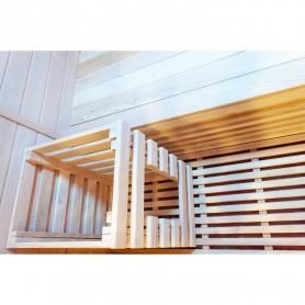 Custom sauna basket for optional sauna heater