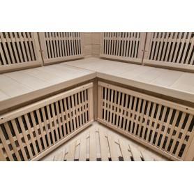 Cotnett Mini Hemlock small corner sauna, bench detail