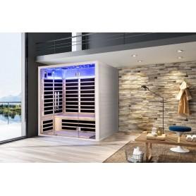 Infrared sauna Glossy white glazed