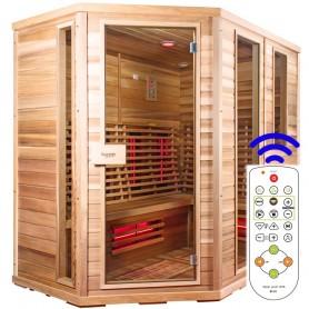 Sauna Relax Lux Left cedar