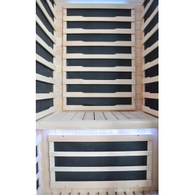 Infrared sauna Glossy nice bench