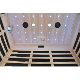 Starlight ceiling on Glossy 3 person sauna