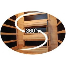 Sauna Infrared for 3-4 persons Delphi 4 persons Infra-sauna for 4 personsSize: 1800 x 1200 x 1900 mmWood: HemlockWarms