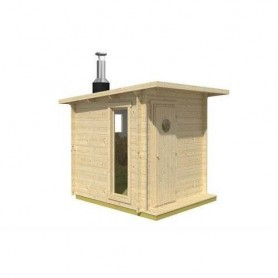 Outgoing products Outdoor sauna with wood burning unit