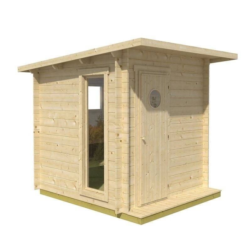 Outgoing products Outdoor sauna with electric heater