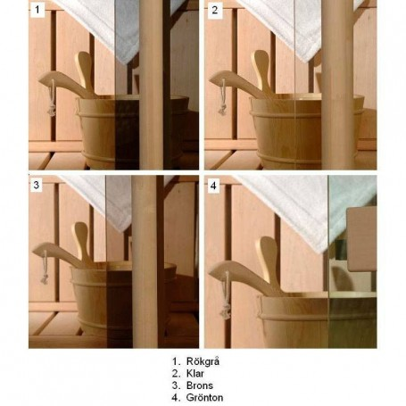 Sauna doors size 6x18 Sauna door 6x18 Classic with clear glass and pine frame