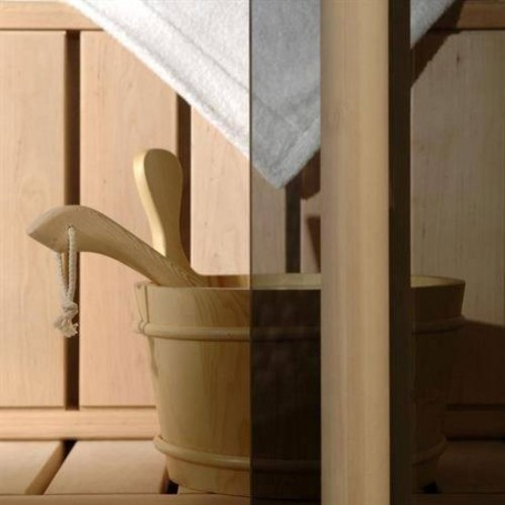 Sauna doors size 6x18 Sauna door 6x18 Classic with gray-tinted glass and pine frame