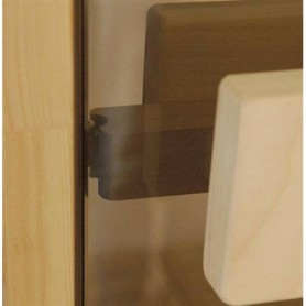 Sauna doors size 8x21 Sauna doors 8x21 Classic with clear glass and pine frame